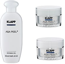 Parfumuri și produse cosmetice Set - Klapp ASA Peel Home Cure Pack (gel/200ml + f/cr/30ml + f/cr/30ml)