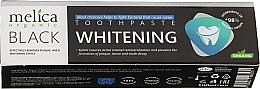 Parfumuri și produse cosmetice Pastă de dinți pentru albire cu cărbune negru - Melica Organic Toothpaste Whitening Black