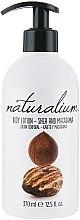 """Parfumuri și produse cosmetice Loțiune de corp nutritivă """"Unt de shea și macadamia"""" - Naturalium Body Lotion"""