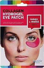 Parfumuri și produse cosmetice Mască de colagen cu vin roșu pentru zona ochilor - Beauty Face Collagen Hydrogel Eye Mask