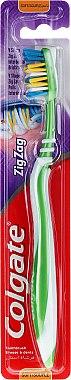 Periuță de dinți, moi, verde - Colgate ZigZag Soft