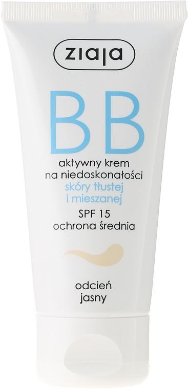 BB cream pentru ten gras și combinat - Ziaja BB-Cream Jasny