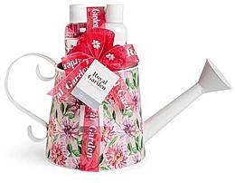 Parfumuri și produse cosmetice Set - IDC Institute Royal Garden (sh/g/150ml+b/lot/150ml+salt/100g+sponge)