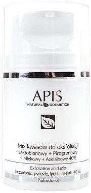 Peeling facial - APIS Professional Lacticion + Pirogron + Milk + Azelaine 40%