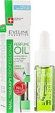 Parfumuri și produse cosmetice Ulei aromatic pentru cuticule și unghii - Eveline Cosmetics Nail Therapy Professional Green Paradise