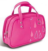 """Parfumuri și produse cosmetice Trusă cosmetică """"Picături"""", 4944, cu mânere, roz - Donegal Cosmetic Bag"""