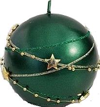 Parfumuri și produse cosmetice Lumânare decorativă verde, bilă 8cm - Artman Christmas Garland