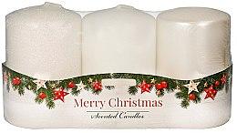"""Parfumuri și produse cosmetice Set lumânări aromate - Artman """"Merry Christmas"""" (candle/3 x 22g)"""