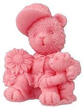 """Parfumuri și produse cosmetice Săpun natural """"Doi ursuleți"""", roz - LaQ Happy Soaps"""