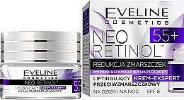 """Parfumuri și produse cosmetice Cremă Lifting împotriva ridurilor """"De întinerire"""" - Eveline Cosmetics Neo Retinol 55+"""