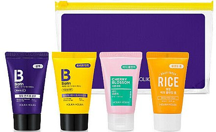 Set - Holika Holika Biotin Travel Kit (shampoo/30ml+treat/30ml+b/gel/30ml+foam/30ml) — Imagine N1