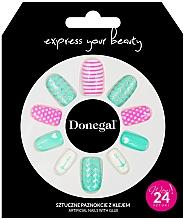 Parfumuri și produse cosmetice Set unghii false cu adeziv, 3055 - Donegal Express Your Beauty