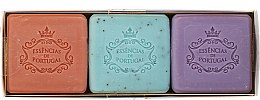 Parfumuri și produse cosmetice Set - Essencias De Portugal Aromas Collection Spring Set (soap/3x80g)