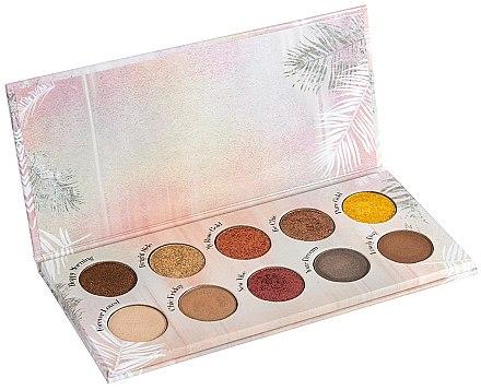 Paletă farduri de ochi, 10 nuanțe - Peggy Sage Eye Shadows Palette 3D Metal & Mat