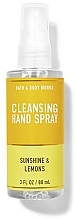 Parfumuri și produse cosmetice Spray de curățare pentru mâini - Bath And Body Works Cleansing Hand Spray Sunshine and Lemons