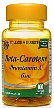 "Parfumuri și produse cosmetice Supliment alimentar ""Beta-caroten"", 100 capsule de gelatină - Holland & Barrett Beta Karoten 6mg"
