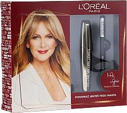 Parfumuri și produse cosmetice Set - L'Oreal Paris (mascara/10.7ml + eyeliner/7g)