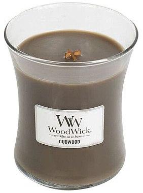 Lumânare aromatică - WoodWick Hourglass Candle Oudwood
