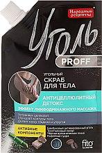 Parfumuri și produse cosmetice Scrub cu cărbune activ pentru corp - Fito Cosmetic Rețete populare