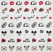 Parfumuri și produse cosmetice Stickere de unghii - Peggy Sage Decorative Nail Stickers Wedding (1 buc.)