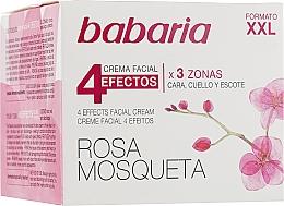 """Parfumuri și produse cosmetice Cremă cu efect de întinerire pentru față și gât """"4 efecte"""" - Babaria Rosa Mosqueta 4 Effects Facial Cream"""
