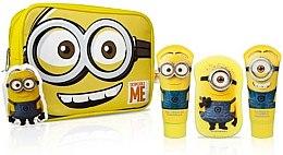 Parfumuri și produse cosmetice Set - Corsair Despicable Me Minions (shm/100ml + sh/gel/100ml + sponge + bag)