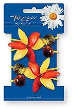Parfumuri și produse cosmetice Elastice pentru păr 2 buc., 21503 - Top Choice