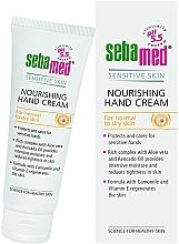 Parfumuri și produse cosmetice Cremă de mâini - Sebamed Hand And Nail Cream Protective With Vit E And Cammomile