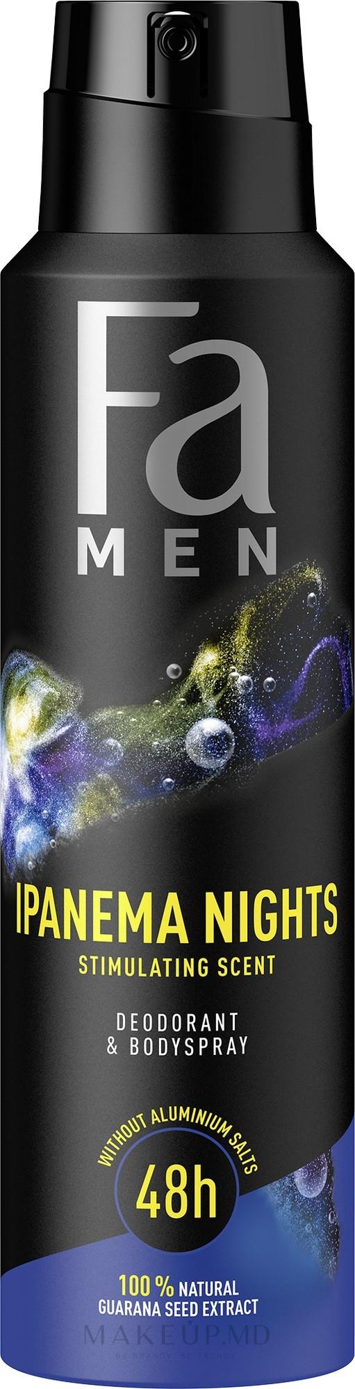 "Deodorant-spray pentru bărbați ""Ipanema Nights"" - Fa Men — фото 150 ml"