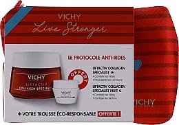 Parfumuri și produse cosmetice Set - Vichy LiftActiv Le Protocole Anti-Rides (d/cr/50ml + n/cr/15ml + bag/1pcs)