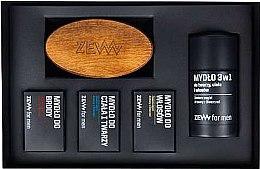 Parfumuri și produse cosmetice Set - Zew The Bearded Man's Holiday Set (soap/4x85ml + brush)