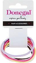 Parfumuri și produse cosmetice Elastice pentru păr 6 buc, FA-9934, colorate - Donegal