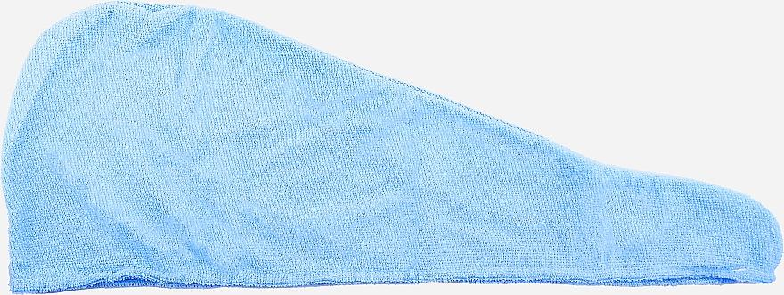 Turban de păr din microfibră, albastru - Deni Carte