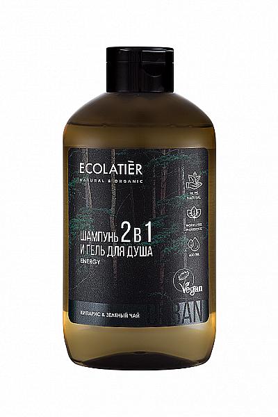 Gel de duș și șampon 2 în 1 pentru bărbați - Ecolatier Urban Energy