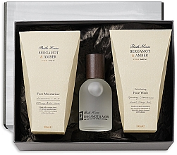 Parfumuri și produse cosmetice Bath House Bergamot & Amber - Set (edc/100ml + f/wash/100ml + f/cr/100ml)