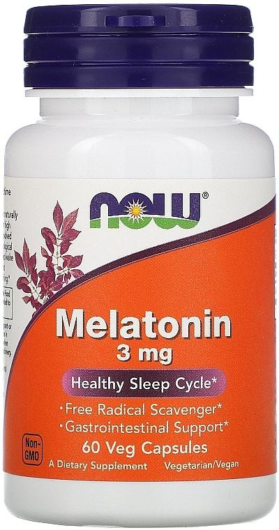 Melatonină împotriva insomniei, 3 mg - Now Foods Melatonin