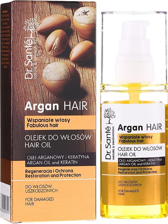 """Ulei de păr """"Restaurare și protecție"""" cu ulei de argan și keratină - Dr. Sante Argan Hair"""