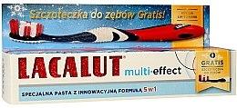 Parfumuri și produse cosmetice Pastă de dinți - Lacalut Multi-Effect (Toothpaste/75ml + periuță de dinți)