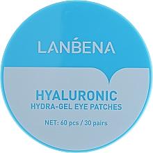Parfumuri și produse cosmetice Patch-uri hidratante din hidrogel pentru ochi - Lanbena Hyaluronic Acid Collagen Gel Moisturizing Eye Patch