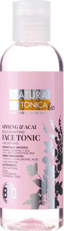 Тоник для лица обновляющий Женьшень и Асаи - Natura Estonica Ginseng & Acai Face Tonic