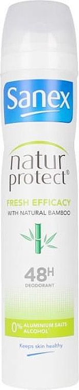 Deodorant-antiperspirant cu extract de bambus - Sanex Natur Protect 0% Fresh Bamboo Deo Vapo — Imagine N1