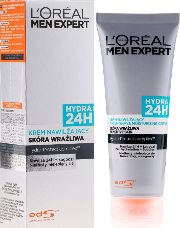 "Cremă după ras ""Hydra Sensitive"" - L'Oreal Paris Men Expert Hydra 24H"