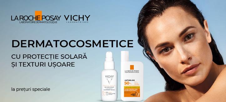 Reducere 20% la produsele promoționale La Roche-Posay și Vichy. Prețurile de pe site sunt indicate cu reduceri