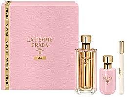 Parfumuri și produse cosmetice Prada La Femme L'Eau - Set (edt/100ml +b/lot/100ml + edt/mini/10ml)
