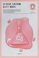 Parfumuri și produse cosmetice Mască de față - A'Pieu Cicative Calcium Sheet Mask