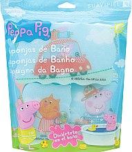 """Parfumuri și produse cosmetice Set bureți de baie """"Peppa Pig"""" 3 buc, călătorii - Suavipiel Peppa Pig Bath Sponge"""