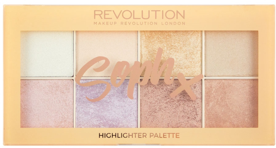 Paletă highlighter pentru față - Makeup Revolution Soph Highlighter Palette