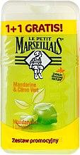 "Set ""Mandarin și lime"" - Le Petit Marseillais (sh/gel/250ml + sh/gel/250ml) — Imagine N1"