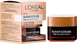 Parfumuri și produse cosmetice Scrub nutritiv pentru față - L'Oreal Paris Sugar Scrubs