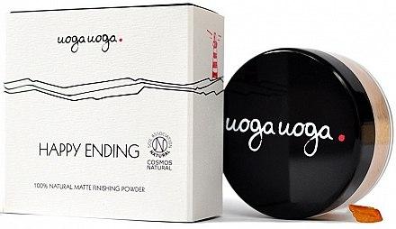 Pudră matifiantă pentru față - Uoga Uoga Happy Ending Finishing Powder — Imagine N1